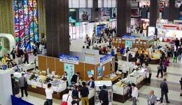 仙台駅コンコース物産展 「復興への確実な一歩を」